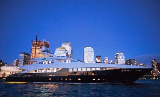 44.5m Heesen charter yacht BLISS -  At Dusk
