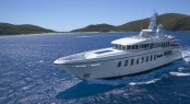 45m luxury charter yacht HARLE by Feadship to visit London