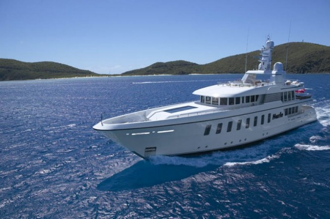 45m luxury yacht HARLE by Feadship to visit London