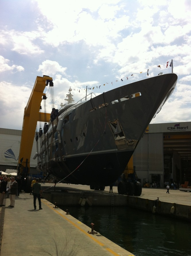 46m Rossinavi motor yacht 2 Ladies (hull FR025) at launch