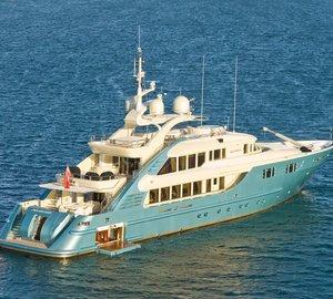 47m ISA superyacht Aquamarina refitted by Rivergate Marina and Shipyard