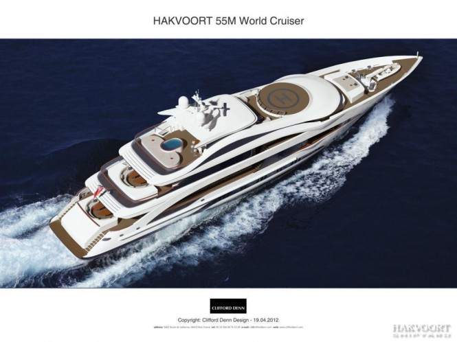 55m Hakvoort luxury yacht - view from above