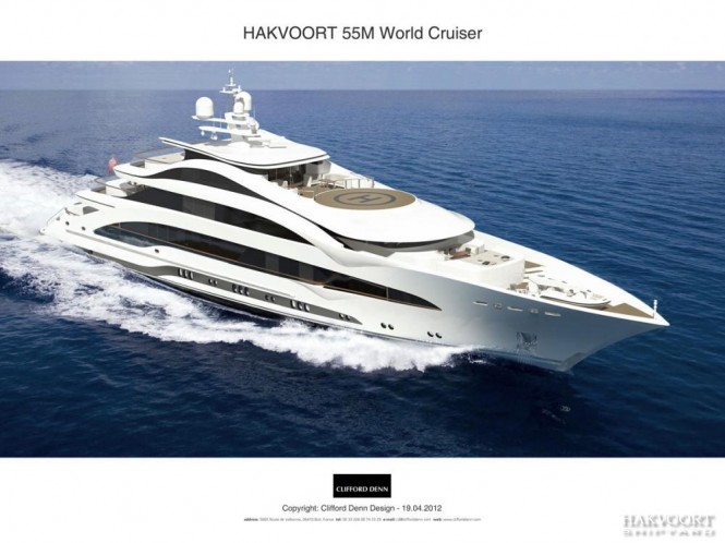 55m luxury motor yacht by Hakvoort Shipyard