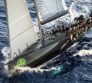 The overall winner of the Rolex Volcano Race 2012: the 60ft Mini Maxi yacht Jethou