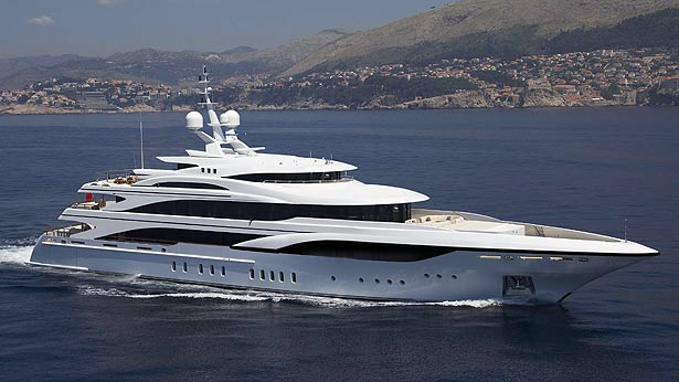 60m luxury motor yacht Hull FB255 by Benetti