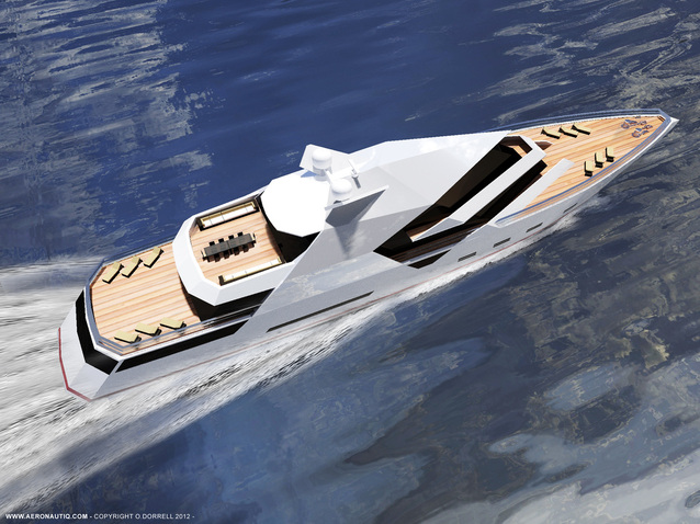 68m motor yacht Hercule by Aeronautiq