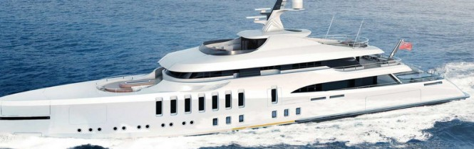 70m luxury motor yacht CASPIAN concept by Claydon Reeves