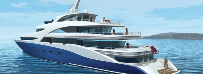 71m motor yacht AGAT designed by H2 Yacht Design