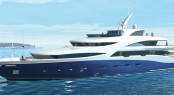 71m superyacht AGAT by Sevmash - Image courtesy of her designer H2 Yacht Design