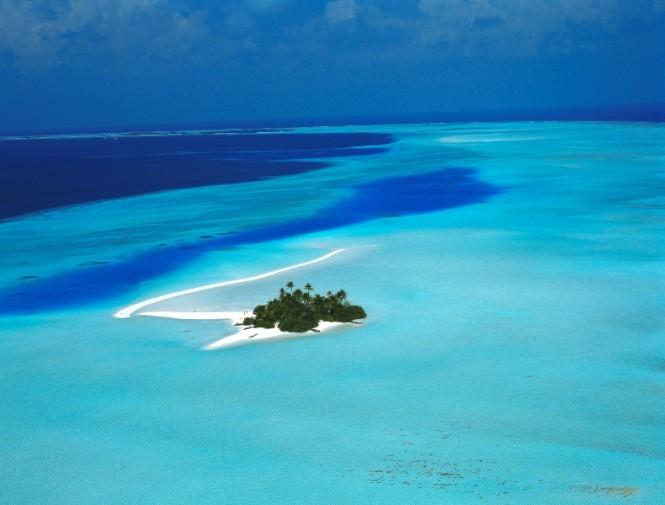 Aerial Rihiveli Sunrise Island