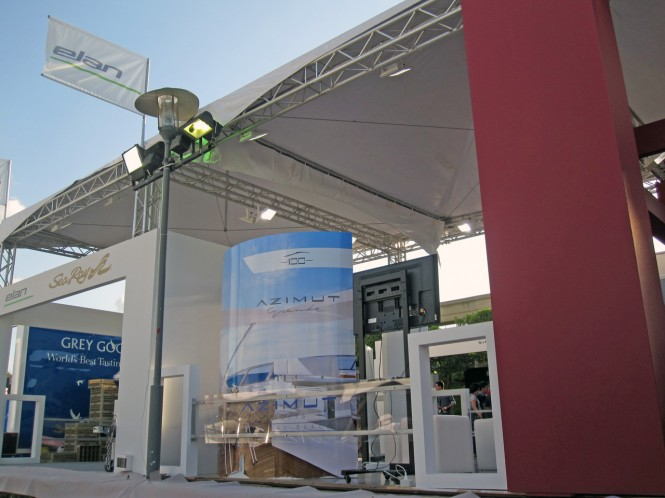 Azimut Grande stand at the Beirut Boat and Superyacht Show 2012