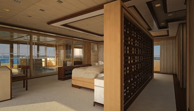 Beautiful interior of the Proteksan Turquoise motor yacht Pro 750 Golden