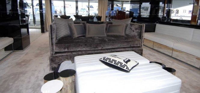 Bliss Superyacht Luxurious Interior - Image courtesy of Superyacht Interiors Mallorca