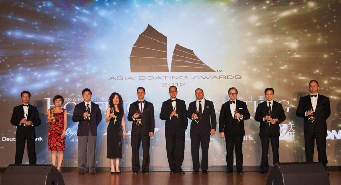 Blu Inc Team and Sponsors toasting