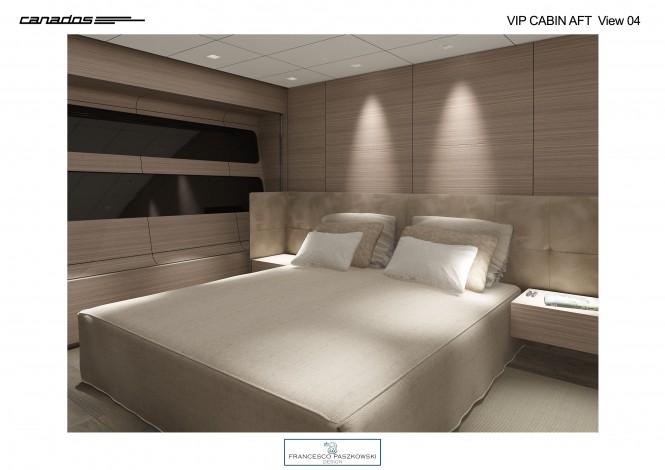 Canados 120 superyacht VIP Cabin