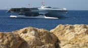 Catamaran yacht MS Turanor PlanetSolar in the Red Sea