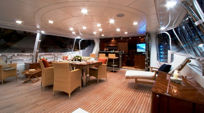 Charter Yacht JAZZ OF MONACO Upper Deck