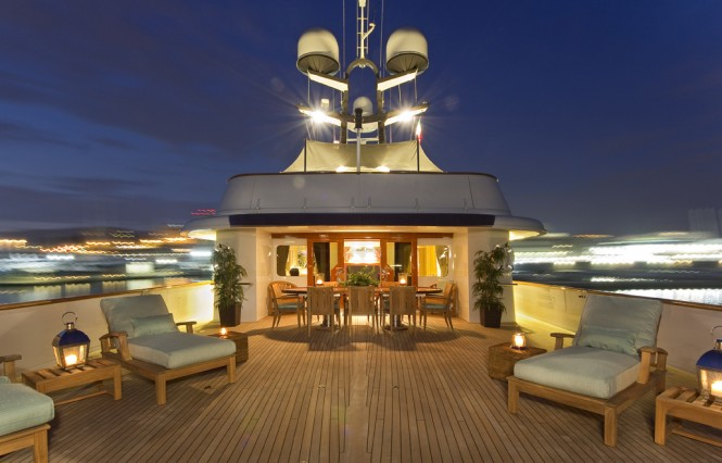 Charter Yacht LEGEND - Bridge Deck Aft