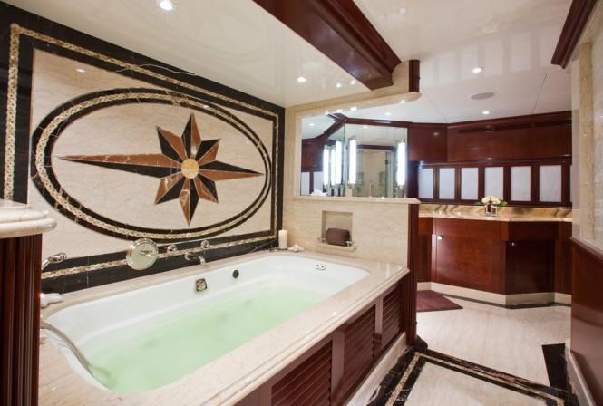 Charter Yacht Glaze Master Bathroom Luxury Yacht Charter