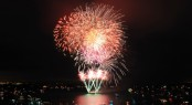 Fireworks to light the skies at Aberdeen Asset Management Cowes Week 2012 (c) RickTomlinson