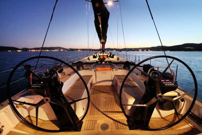 High Performance sailing yacht LUPA OF LONDON Helm