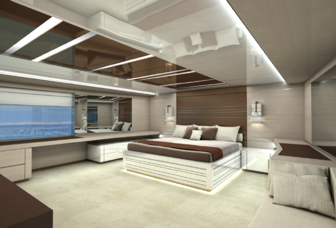 Interior of the Rodriquez 37 RPH Yacht