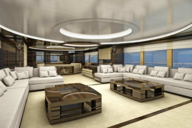 Interior of the Rodriquez 42 yacht