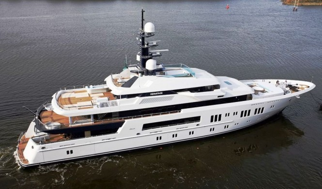 Lurssen Motor yacht Hermitage - a ´Best Custom Built Yacht´ nominee