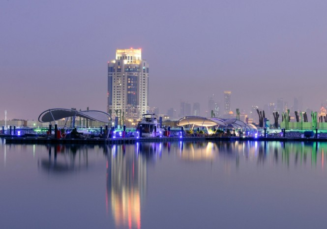 Lusail Marina - a beautiful superyacht marina situated in Doha, Qatar