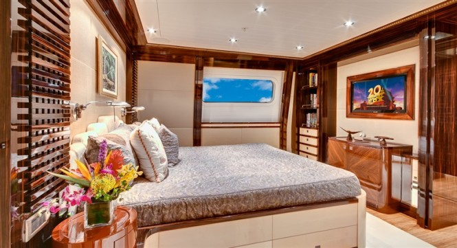 Luxurious interior aboard the superyacht Loretta Anne IV
