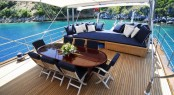 Luxury gulet SEA COMET - Aft Deck Dining