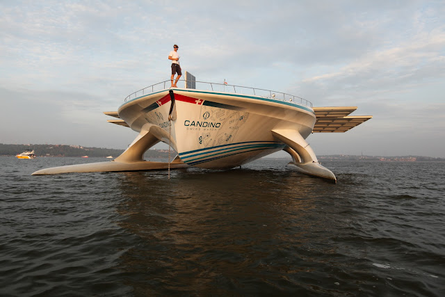 Luxury yacht MS Turanor PlanetSolar in Goa, India