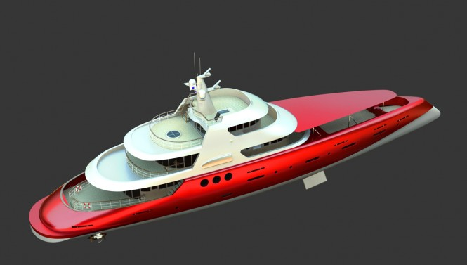 Luxury yacht Monoposto 147 - view from above