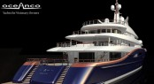 Luxury yacht Nirvana (project Y707) by Oceanco - rear view