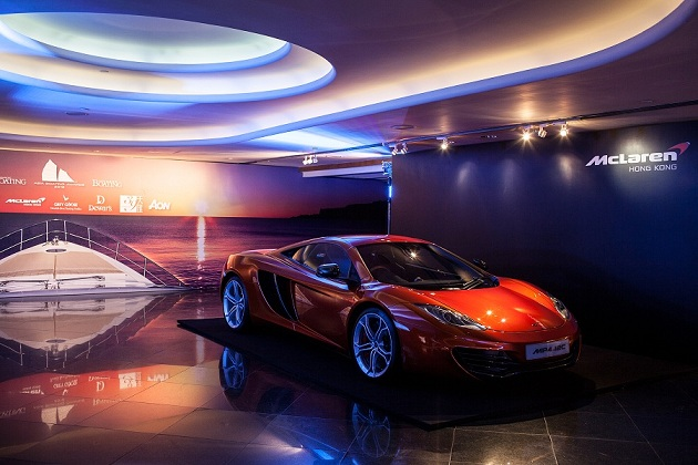 McLaren super car MP4-12C display