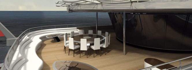 Motor Yacht AGAT constructed at Sevmash - Image courtesy of her designer H2 Yacht Design
