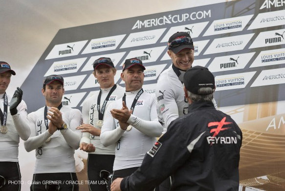 ORACLE TEAM USA on the podium