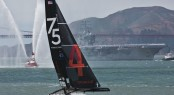 America's Cup celebrates the Golden Gate Bridge 75th Anniversary Credit: ACEA/Gilles Martin-Raget