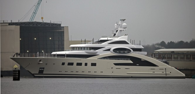 One of the latest Lurssen launches - the 87m ACE megayacht photographed by Carl Groll - Image courtesy of Lurssen Yachts