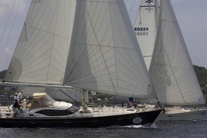 Oyster yachts competing in the Oyster Regatta 2011