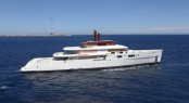 Perini Navi luxury yacht Vitruvius is arriving in La Spezia
