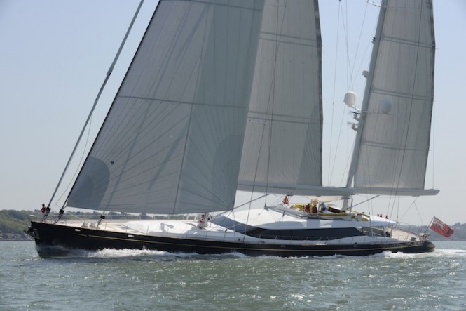 Sailing Yacht Mondango in The Solent May 25 2012, Image courtesy of Dubois Naval Architects 52m.