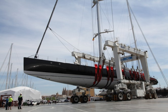 Sailing yacht AGLAIA hoisted by STP in Mallorca