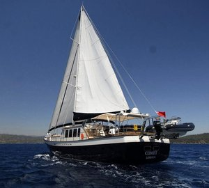 Luxury charter gulet Sea Comet available for cruising vacations around the Eastern Mediterranean