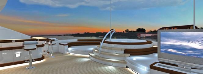 Spa Pool aboard superyacht Agat by Sevmash - Image courtesy of her designer H2 Yacht Design