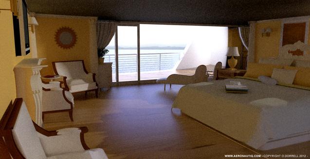 Superyacht Hercule interior design - Design by Aeronautiq