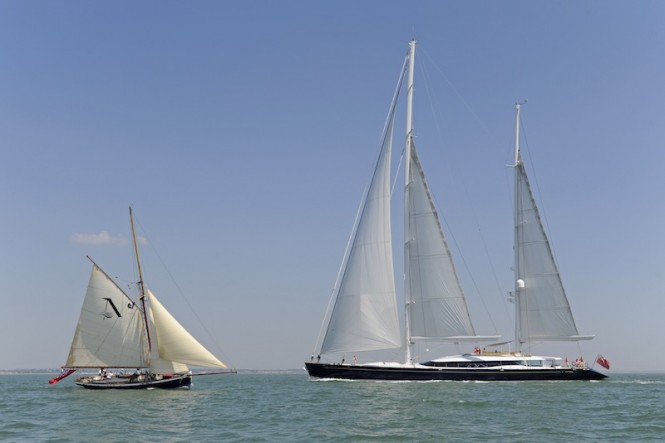 Mondango in The Solent May 25 2012, Dubois Naval Architects 52m.