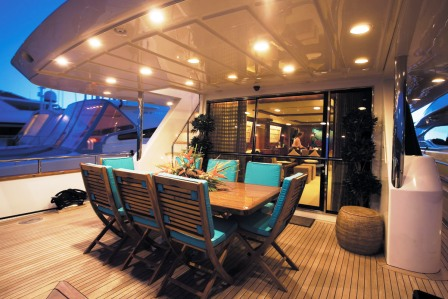 Superyacht Powdermonkey - Al fresco dining