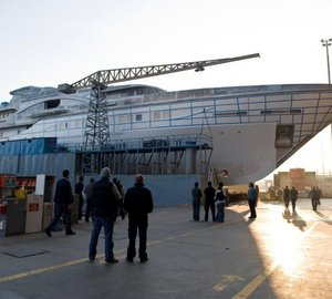 72.64m Proteksan Turquoise superyacht Vicky (hull NB54) launched