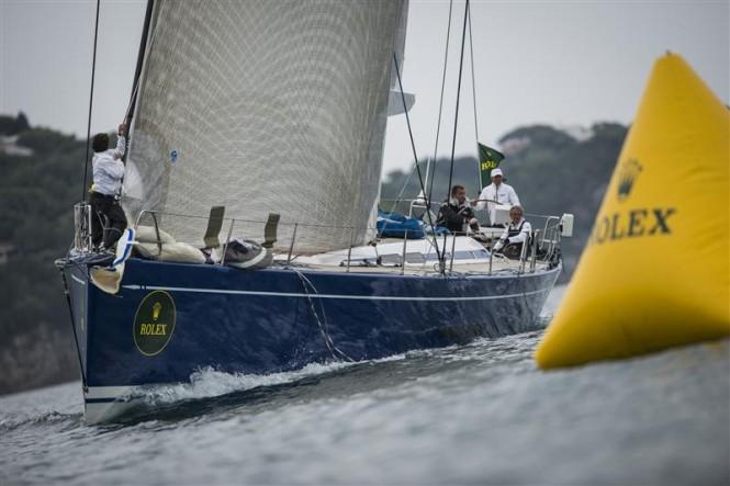 Swan 80 sailing yacht Berenice Bis Photo By Rolex/Kurt Arrigo